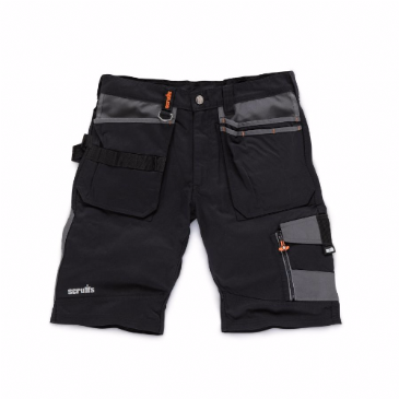 Scruffs Black Trade Work Shorts